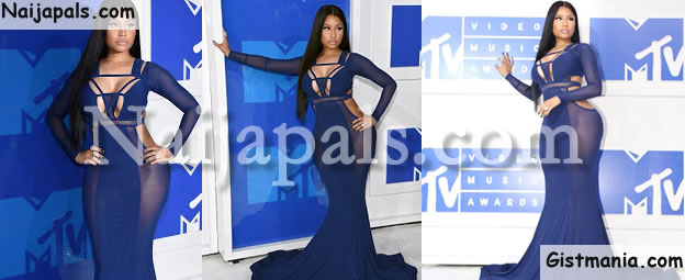 "SUPER-HOT! Nicki Minaj Flaunts Her ""Killer"" Curves @ The Star-Studded VMAs (Photos)"