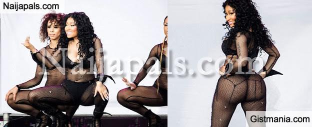 PHOTOS: Nicki Minaj Performs @ Music Festival In A Tiny Black Bra & A Black Thong With See-Through Black Net