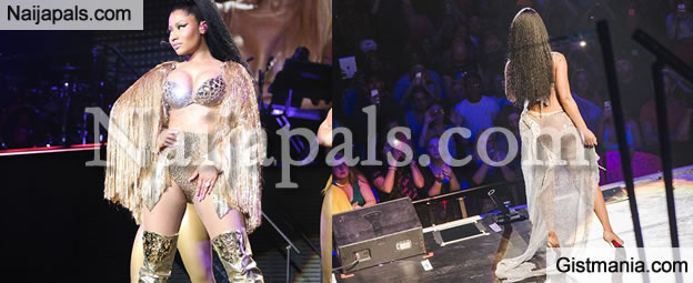 PHOTOS: Nicki Minaj Appears In Another Sexually Enthralling Outfit On Stage