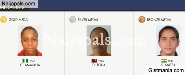 17 Year Old Nigerian Gold Medalist Weightlifter Chika Amalaha Fails Doping Test