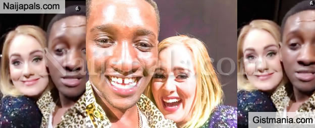 NICE MISTAKE! Nigerian Guy Kiss Star Singer, Adele On Stage In Canada (Video)