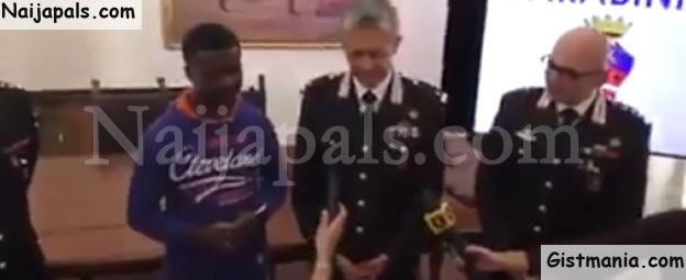 Nigerian Man Rewarded By Government After Stopping Robbery Attack In Italy (Photos & Video)