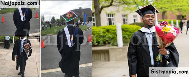Nigerian Man Rocks Biafran Color At His Graduation From A US University (Photos)