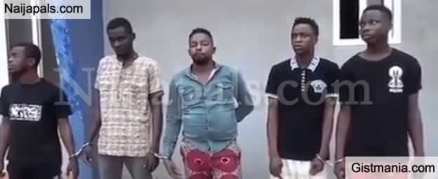 Photo+Video: 5 Nigerians Arrested In Ghana After Robing & Sleeping With A Woman In The Presence Of Her Husband