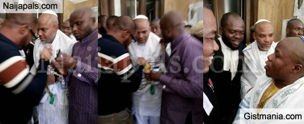 Nnamdi Kanu Wears Jewish Rabbi Outfit To His Court Hearing Today, Claiming Igbos Are Descendant Of The Jews