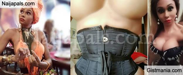 Nigerian Transgender, Miss Sahhara Goes Nak£d As She Flaunts Her Trimmed Body (Photos)