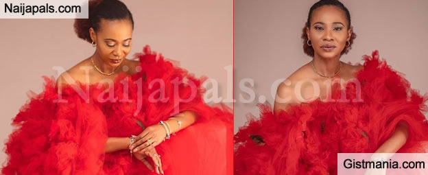 Actress Nse Etim Glows In Red, Shares Lovely Photos To Mark Her 45th Birthday