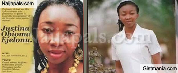 Touching Story Of Nurse Justina Obioma Ejelonu, The First Nurse That Died Of Ebola In Nigeria