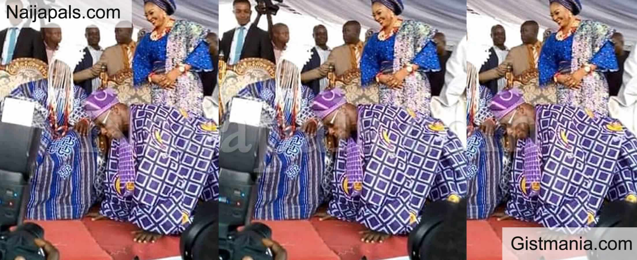 See 82-Year-old Ex President Obasanjo As He Pays Obeisance To 59-Years-Old New King