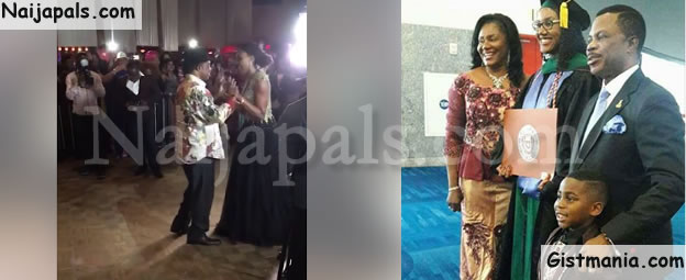 Anambra State Governor, Obiano Dances With His Daughter After Her Graduation In US (Photos/Video)