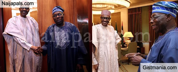Obasanjo And President All Smiles After Their Closed Door Meeting (Photos)