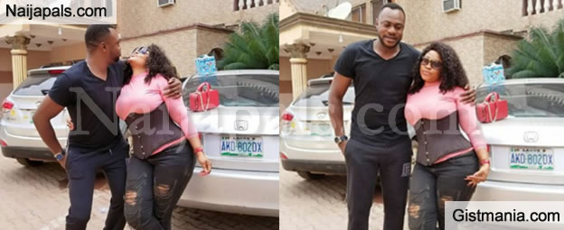 Check Out These Lovely Photos Of Actor Odunlade Adekola Pictured With The 'Endowed' Biodun Okeowo