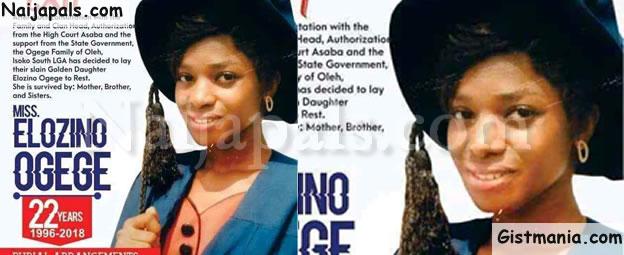 YAHOO PLUS! Obituary & Burial Photos Of 22-Year Old Murdered 300L DELSU Student, Elozino Ogege