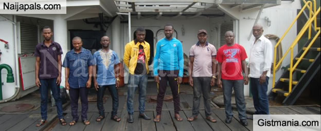 Faces Of Suspected Oil Thieves Caught By The Nigerian Navy (Photos)