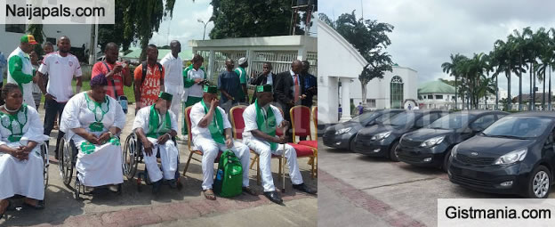 Nice One! Okorocha Gives Nigerian Paralympians Cars For Winning Gold At Rio  (PHOTOS)