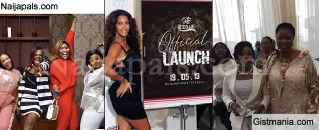 Former Housemates, Celebs, Okorochas' Son And Fans Storm CeeC's Sport Wear Launch In Style