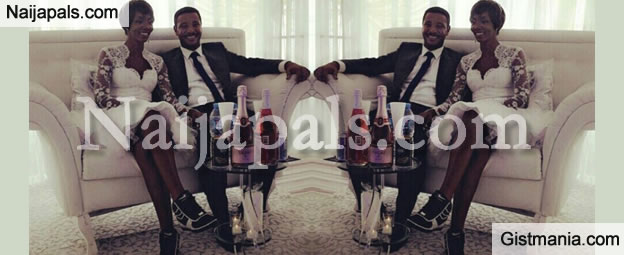 LMAO! Ivie Okujaye Rocks Sneakers With White Wedding Gown For Her Wedding