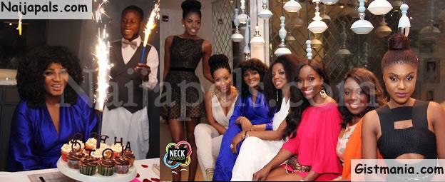 PHOTOS: Friends Throw Big Birthday Bash For Omotola Jalade In Ghana