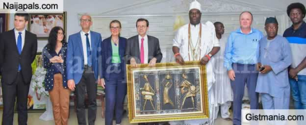 Ooni Of Ife Urges World Leaders To Invest In Humanity As He Hosts French Ambassador To Nigeria