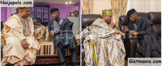 SECURITY ALERT! Vice President, Yemi Osinbajo Meets Ogun Monarchs