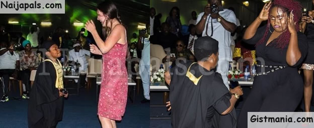 SMALL BUT MGHTY! Nollywood Actor, Osita Iheme Spotted Dancing On Stage With 'Heavy-Duty' Ladies In Rwanda (Photos)