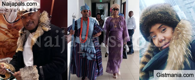 Oba Adewale Akanbi Rocks Stylish Attire As He's Spotted In A Gucci Shop
