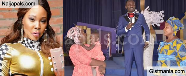 Photos: Stephanie Otobo's Mother and Sister Goes To Apostle Suleman's Church To Beg Him