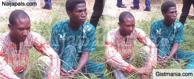 Police Unmask Faces Of Two Young Men Who Lured & Killed A Housewife For Money Rituals in Oyo (Photo)