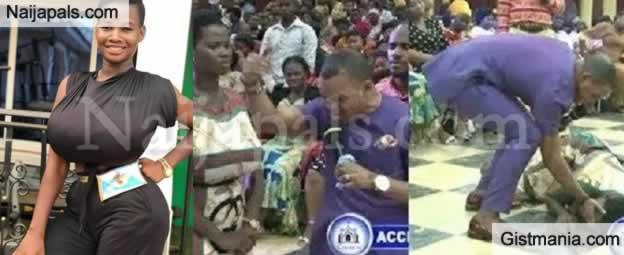 Bishop Obinim Delivers Busty Ghanaian Model, Pamela Odame From 'Spirits Of Dwarfs'