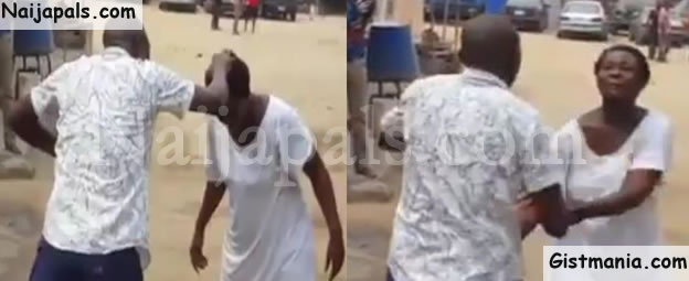 Drama As Pastor Was Beaten By Mentally Challenged Woman He Was Trying To Heal (Video)