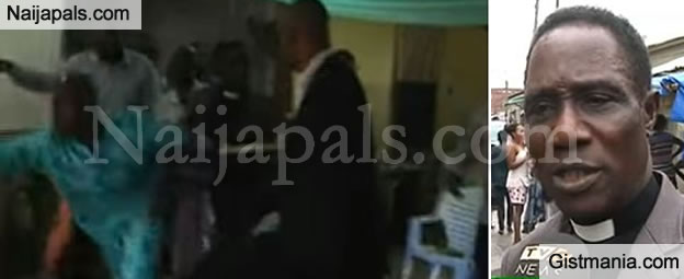 Shocking Moment When Church Members Throw Out Pastor During Service In Lagos (Video)