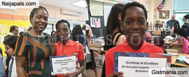 Tuface's Son With Pero, Justin Idibia Graduates From 5th Grade In USA