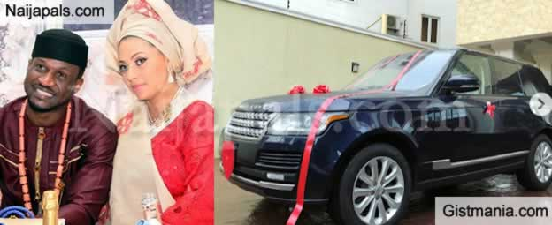 Tell My Wife To Come Home Quick - Peter Okoye Beg Fans As He Buys Range Rover For Wife (Photos)
