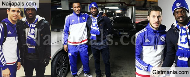 Peter Okoye Of Psquare Meets With Mikel Obi and Other Chelsea Stars(Photos)