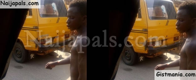 PHOTOS: Thief Caught, Stripped And Forced To Walk Stark Naked On The Streets