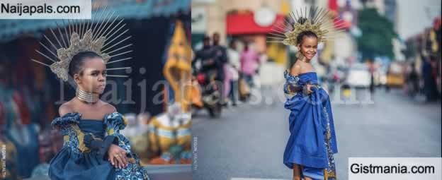 Very Beautiful Modelling Photos Shot At Balogun International Market In Lagos