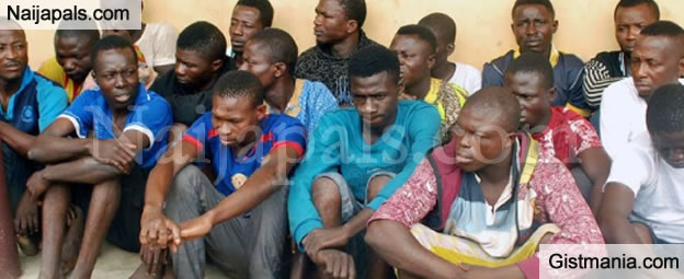 BUSTED! Notorious Pick-Pockets Syndicates Nabbed By RRS In Oshodi, Lagos - Photos