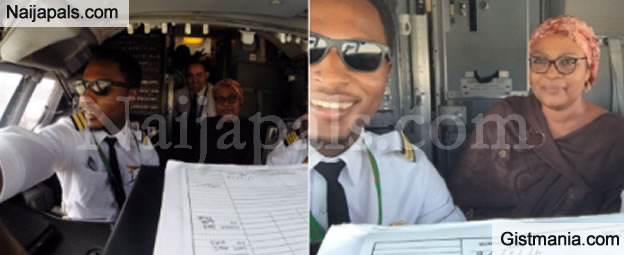 Mother Of A Young Pilot Sheds Tears Of Joy As Her Son Personally Flew Her To Kano - Photos