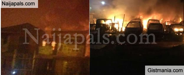 Pipeline Explosion Caused By Vandals Rock Ebule Egba Area Of Lagos (Video)