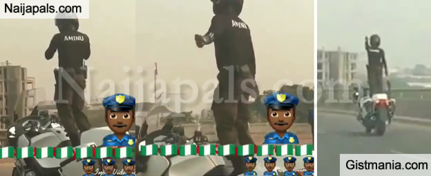 Meet Aminu, The Nigerian Policeman Who Dances Ontop of His Power Bike On The Expressway