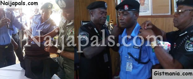 PHOTOS: IGP Promotes Sergeant Who Made Local Bullet Proof Jackets