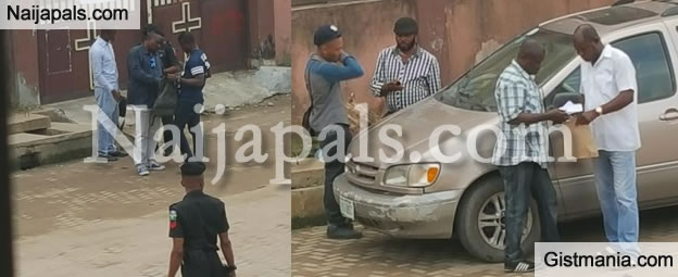 Plainclothes Policemen Spotted Carrying Out Stop and Search in Lagos (Photos)