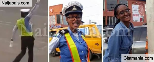 Lagos Traffic Warden Melts Heart Of Nigerians As She Shares Photo Daughter Visiting Her At Work