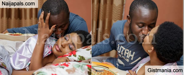 Couple Cause Internet Uproar As They Take Pre-Wedding Photos To The Bedroom (Check Out)