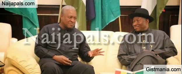 Photos From The Meeting Of President Jonathan & President Mahama Of Ghana In Abuja