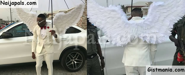 Socialite, Pretty Mike Arrives A Wedding With 5 Ladies Dressed In Wedding Gown (Video)