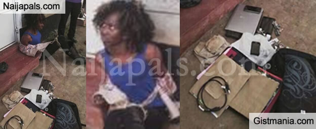 SMH! Prostitute Busted While Escaping With Stolen Items Of The Client She Drugged (Photos)