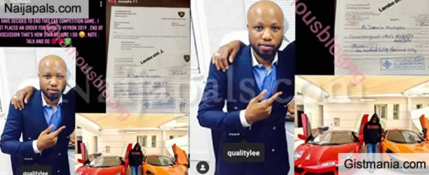 This is How Star Do! Quality Lee Buys Bugatti Veyron Worth $3M To Floor Mompha In Car Competition