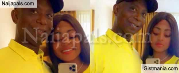 Regina Daniels Steps Out In Matching Outfit With Her Husband, Prince Ned Nwoko