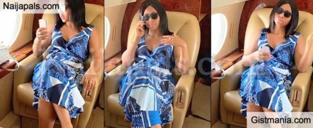 Regina Daniels Flaunts Engagement Ring In a Private Jet